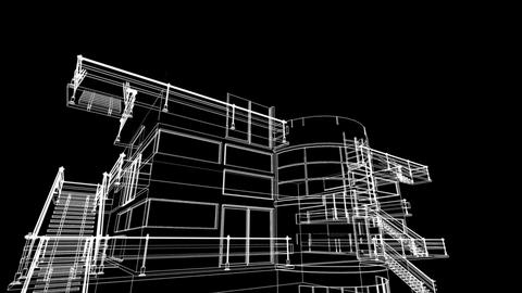 building sketch construction Stock Video Footage