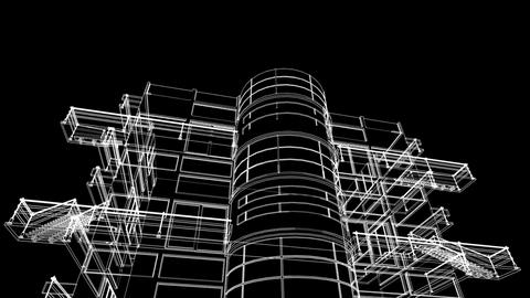 building sketch construction Stock Video Footage