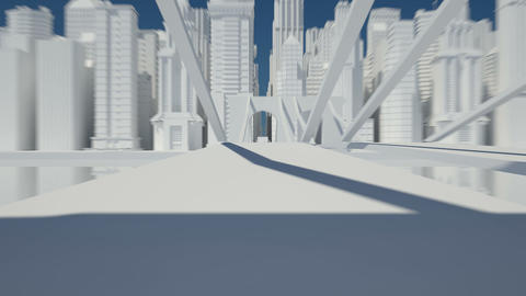 city sketch white Animation