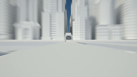 city sketch white Stock Video Footage