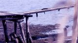 Old Wooden Bridge stock footage