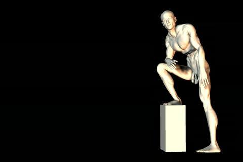 statue 25 obj 3D Model