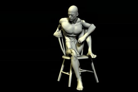 statue 33 obj 3D Model