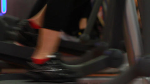 people doing sports in a gym Stock Video Footage
