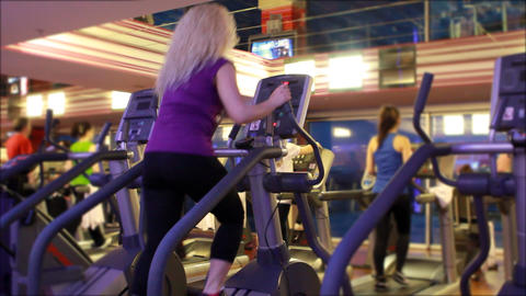 people doing sports in a gym 3 Stock Video Footage