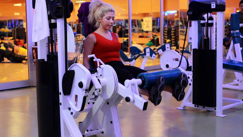 girl doing sports in a gym 3 Stock Video Footage