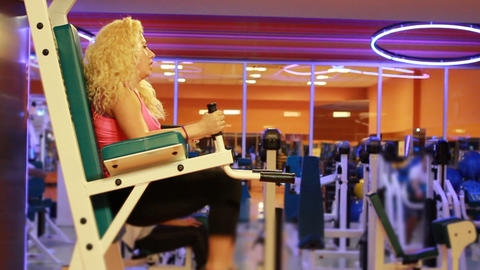 girl doing sports in a gym 17 Stock Video Footage