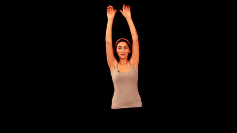 young woman doing pilates Stock Video Footage