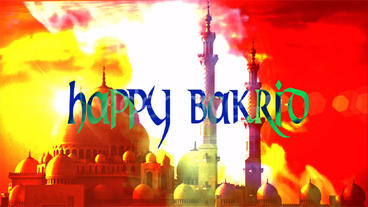 Happy Bakrid stock footage