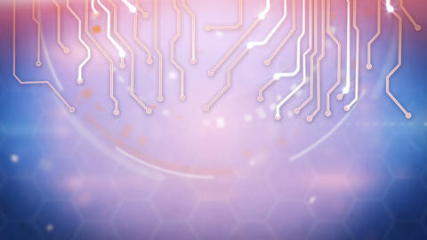 circuit board techno loop background Animation