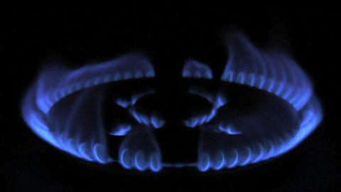 gas flame 02 Stock Video Footage