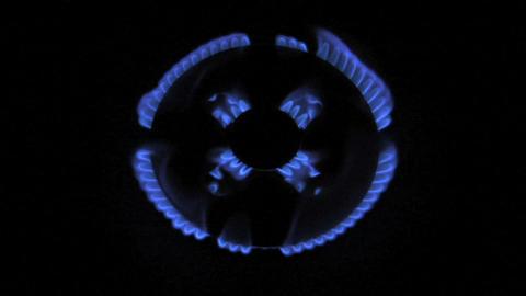 gas flame 04 Stock Video Footage