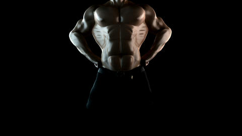 strong bodybuilder with alpha Stock Video Footage