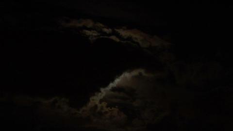 moon cloud 04 Stock Video Footage