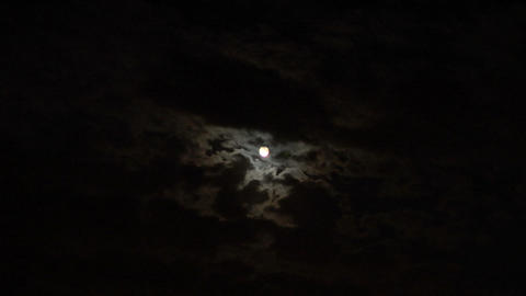 moon cloud 06 Stock Video Footage