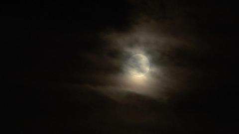moon cloud closeup 02 Stock Video Footage