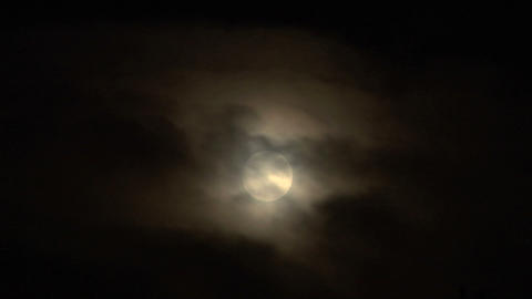 moon cloud closeup 04 Stock Video Footage