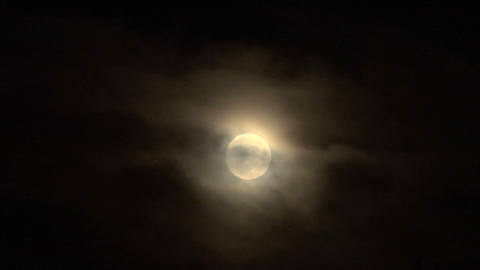 moon cloud closeup 04 Footage