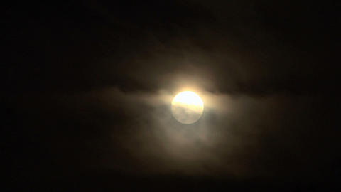 moon cloud closeup 04 Stock Video Footage