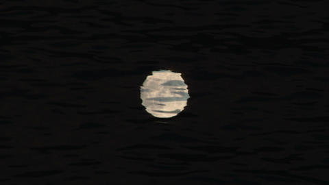 moon reflection Stock Video Footage