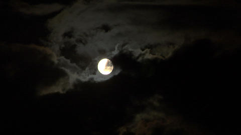 moon stormy 02 Stock Video Footage