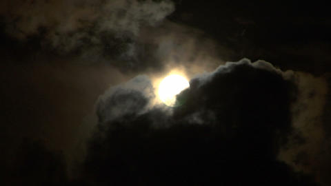 moon stormy closeup 03 Stock Video Footage