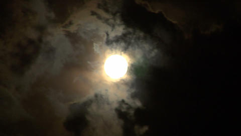moon stormy closeup 05 Stock Video Footage