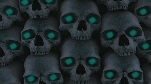 Skulls 8 Stock Video Footage