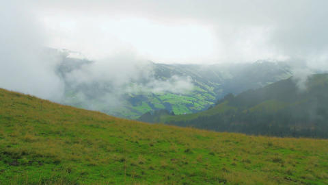 In The Alps 07 Clouds Stock Video Footage