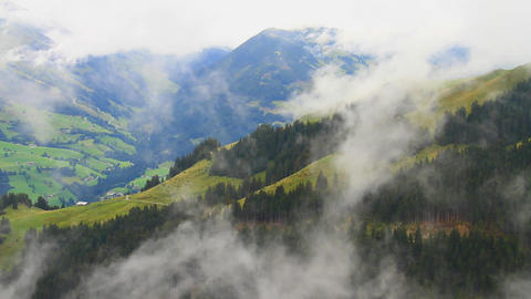In The Alps 11 Clouds Timelapse Stock Video Footage