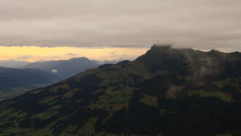 In The Alps 19 Mountains and Clouds Pans Stock Video Footage