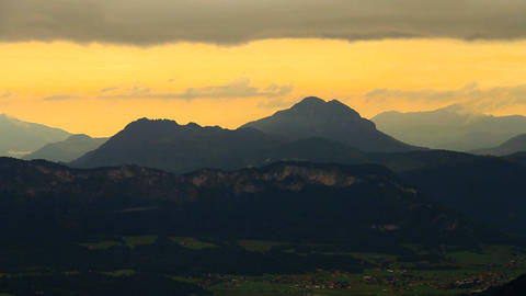 In The Alps 21 Mountains and Clouds Timelapse Stock Video Footage