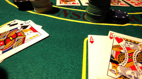 Poker 08 dolly right Stock Video Footage