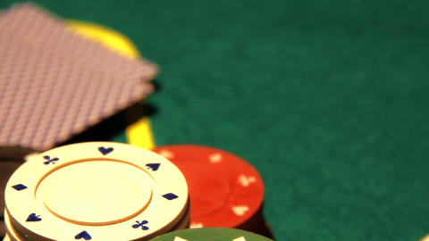 Poker 14 dolly left Stock Video Footage