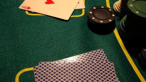 Poker 28 dolly right Stock Video Footage