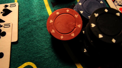 Poker 30 dolly right Stock Video Footage
