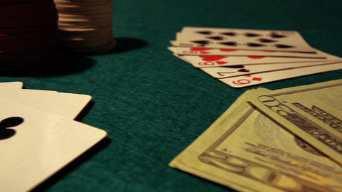 Poker 42 dolly left Stock Video Footage