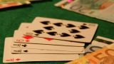 Poker 49 Dolly Left stock footage