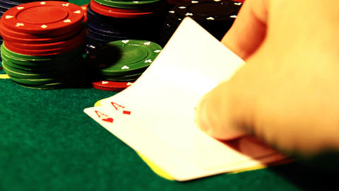Poker 73 showdown Stock Video Footage