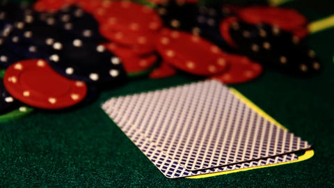 Poker 75 check Stock Video Footage