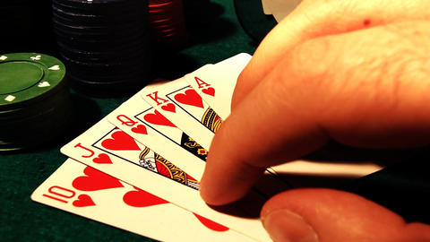 Poker 81 showdown royal Stock Video Footage