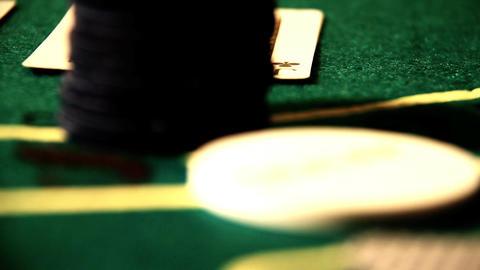 Poker 85 showdown Stock Video Footage