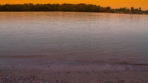 Riverbank ARTCOLORED 01 Stock Video Footage