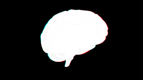 brain xray anaglyph Stock Video Footage