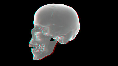 heart xray anaglyph Stock Video Footage