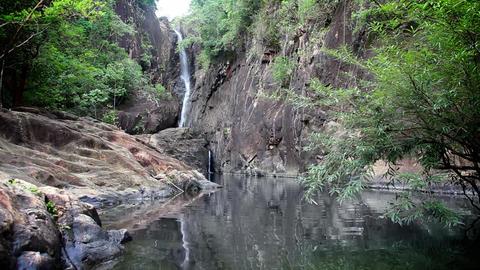 Jungle waterfall Stock Video Footage