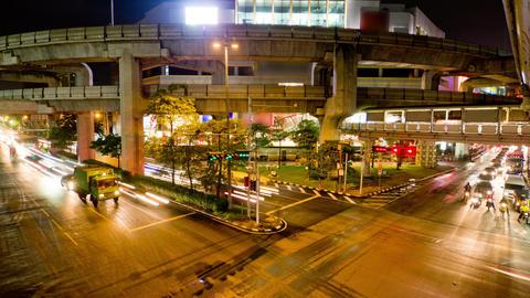 Bangkok traffic 2 time lapse Footage