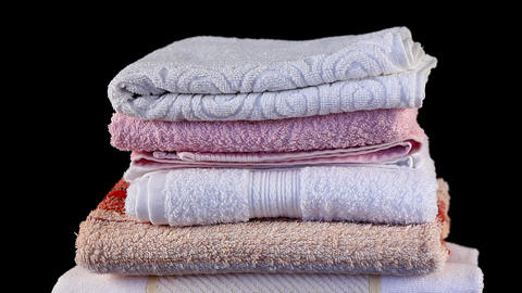 Loop towels Stock Video Footage