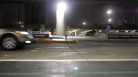 Night at the airport Stock Video Footage