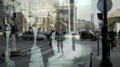 City double exposure Stock Video Footage